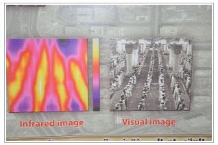 Mescid-i Nebevi'de namaz anı kızıl ötesi kameralarla çekildi. İşte müthiş enerjinin fotoğrafı